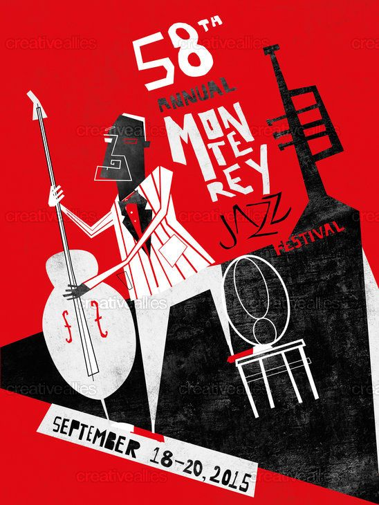 Monterey Jazz Festival Poster by ivan on CreativeAllies.com