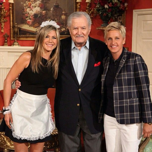 Ellen DeGeneres Jennifer Aniston and her father