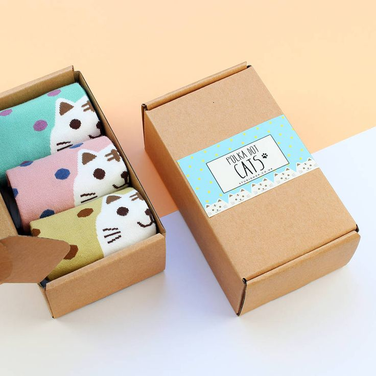a pretty label on a brown package for a cat lover