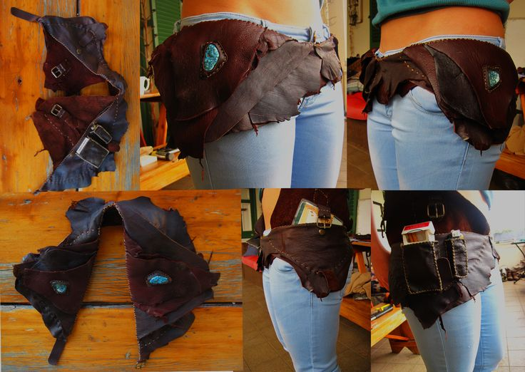 Dark brown leather and Turquenite saddlebag with compartments according to this gorgeous customer's needs.  A pouch on each side, on the right side I added two separate pockets. One for a box of cigarettes and the other for a lighter.