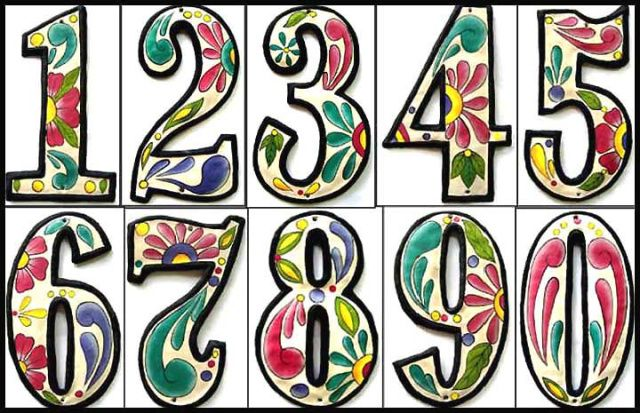 Painted metal address house numbers - Steel drum art of Haiti - See more at www.TropicAccents.com