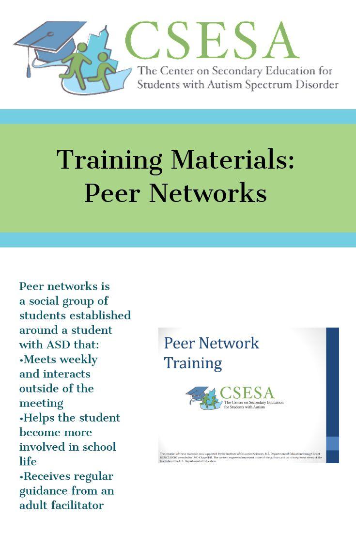 Peer Networks For Students With Asd Csesa Training Materials School Resources Social Skills Teens Social Skills Autism