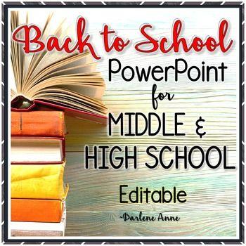 157 best open house bts night images on pinterest teacher back to school night meet the teacher power point for middle high school toneelgroepblik Images