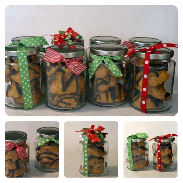 Chocolate Glazed Pumpkin Cookies in a Jar Holiday, Idea, Chocolate ...