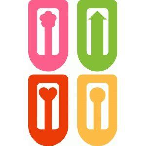 Silhouette Design Store - View Design #37031: heart clips (bookmark)