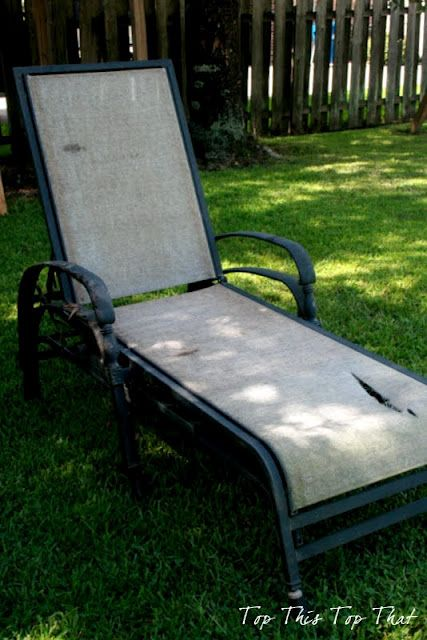 How To: Refurbish Your Old Loungers by laura janning for Bob Vila Nation #DIY