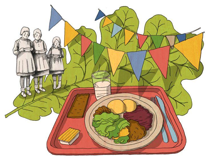 Illustration by Terhi Ekebom for Finnish Cultural Foundation, 2014