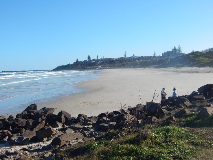 view south on Shelly beach Ballina NSW