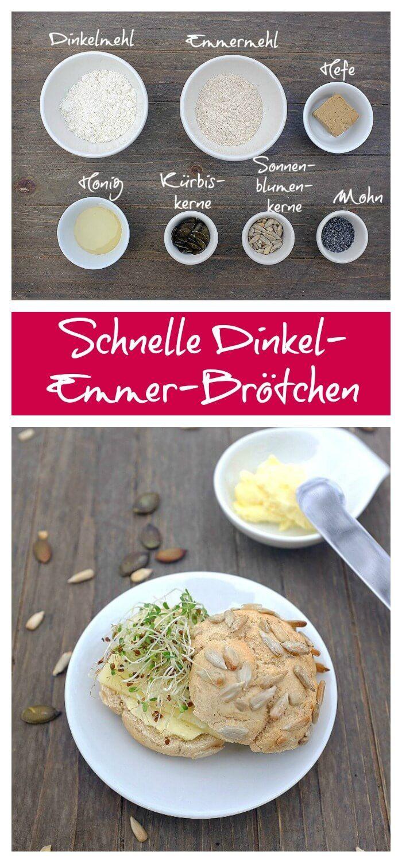 Schnell Brötchen | Frühstück | Sonntagsbrötchen | Emmermehl| Dinkel | Brötchen