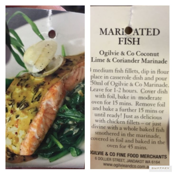 Marinated Fish With Bought Coconut Coriander Lime Marinade