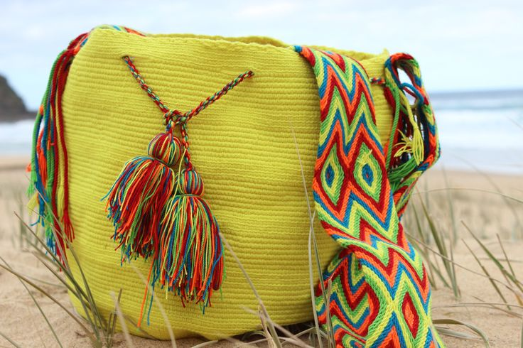 Hand woven by native Wayuu people from La Guajira