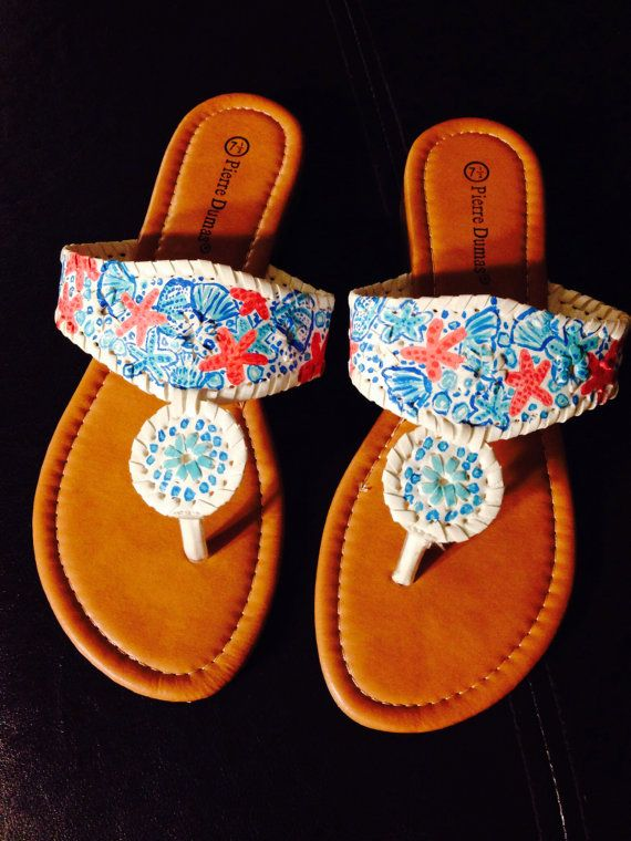 Lilly Pulitzer Inspired Jack Rogers Look Alike Sandals In
