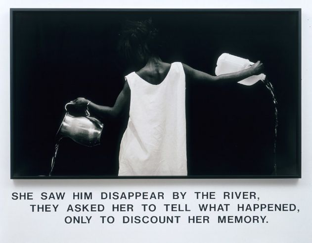 Waterbearer - Lorna Simpson, 1986 From the American Federation of Arts:
