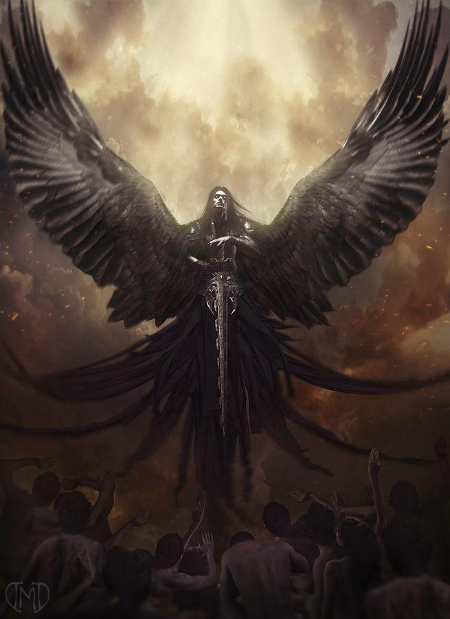 The Angel of Death The concept is from my close friend. He drew me a sketch and I made it into this   Enjoy   stocks used: model -  male figure armor - shutterstock &n...