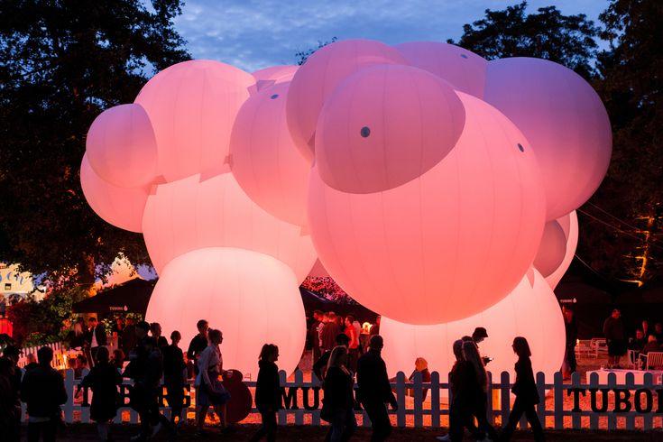 Gallery of BIG-Designed Inflatable Pavilion Lights Up Roskilde Festival – 2