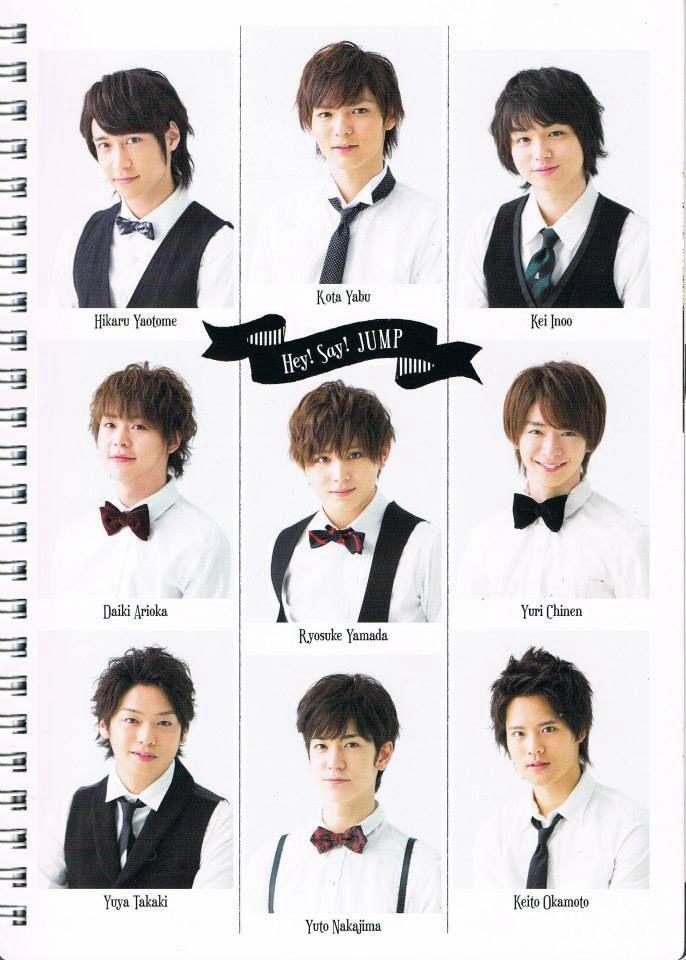 Hey say jump chinen, okamoto, nakajima, yamada, kota, yaotome, arioka, inoo, takaki