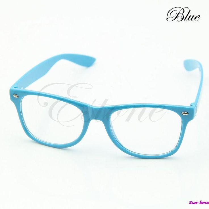 Fashion Glasses Cool Unisex Clear Lens Nerd Geek Glasses Eyewear For Men Women