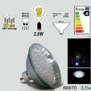 Easy Connect ampoule led Gu10 MR30 à 60 leds Blanches