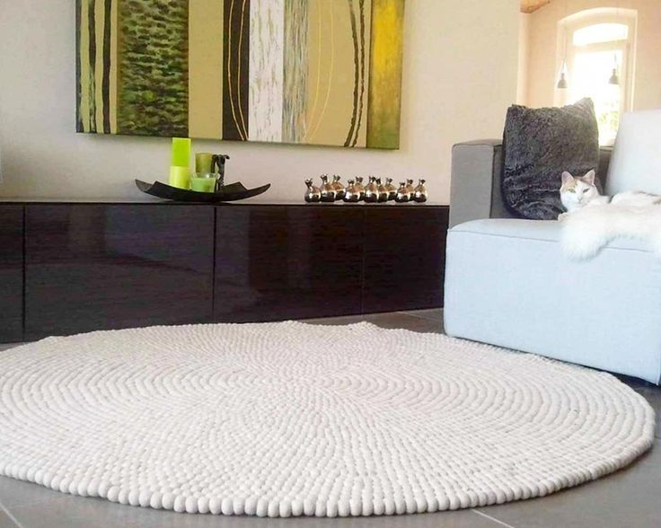 round tapijten 90cm 120cm witte wollen