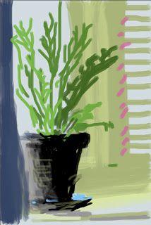 David Hockney iPhone portrait