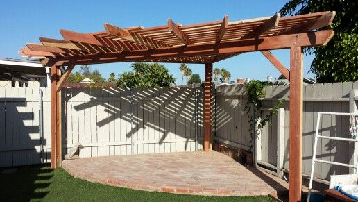 3 Post Fan Shaped Pergola Designed And Built By Pacific