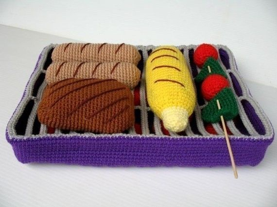 Crocheted grill. How cute! #grill