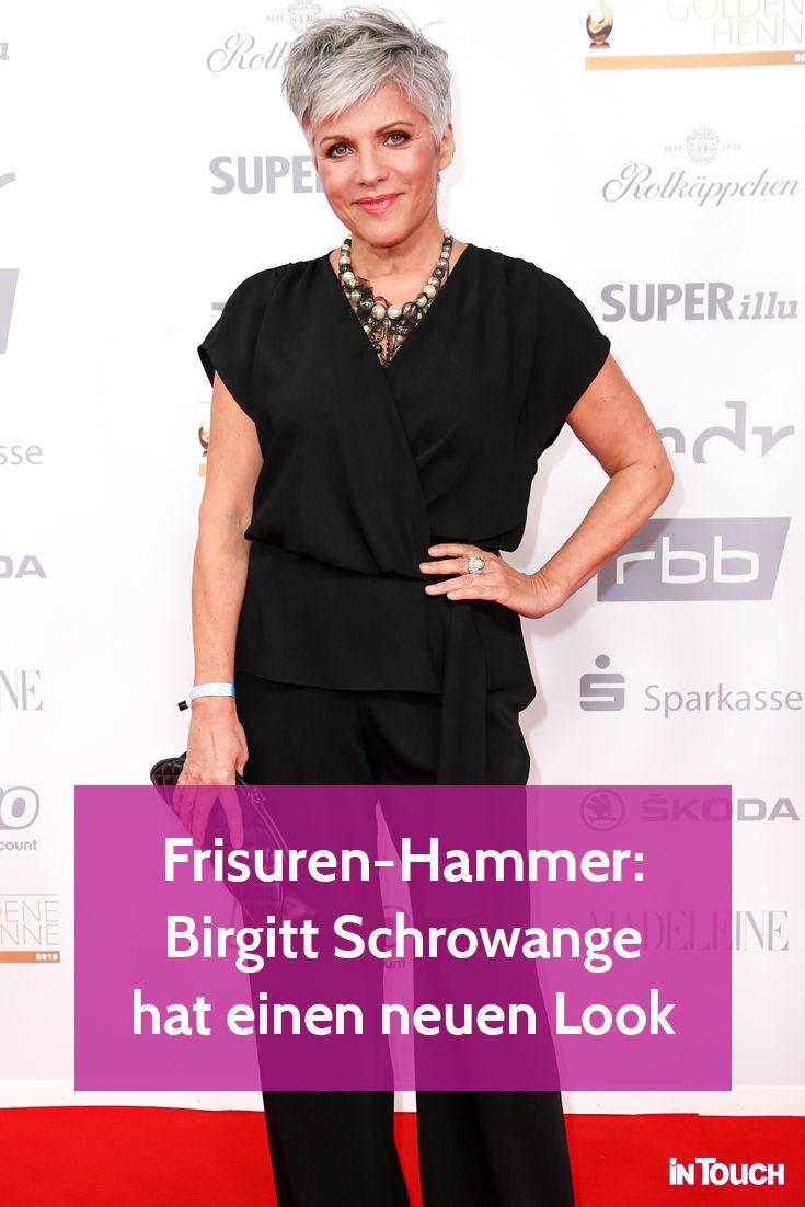 Birgit Schrowange Nach Den Grauen Haaren Wieder Ein Neuer Look Schrowange Neue Looks Frisuren Fur Reife Damen
