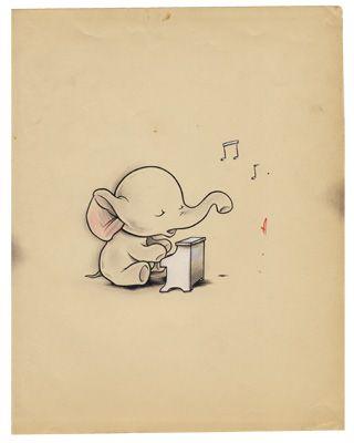 Elephant illustration by Kurt Halsey I'msingingforyouelephant
