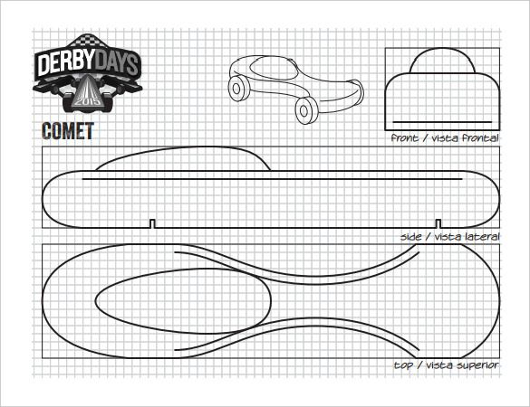 Pinewood Batman Templates Printable Car Derby