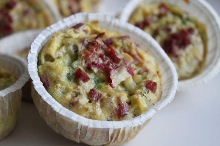 Madpakke muffins med kartofler og radiser - nem at havde med :-)