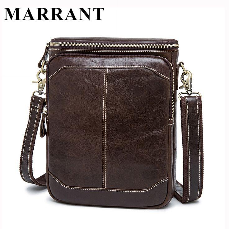 MARRANT Hot Sale Male Bags 100% Genuine Leather Men Bags Messenger Crossbody Shoulder Bag Men's Casual Travel Bag For Man 8003