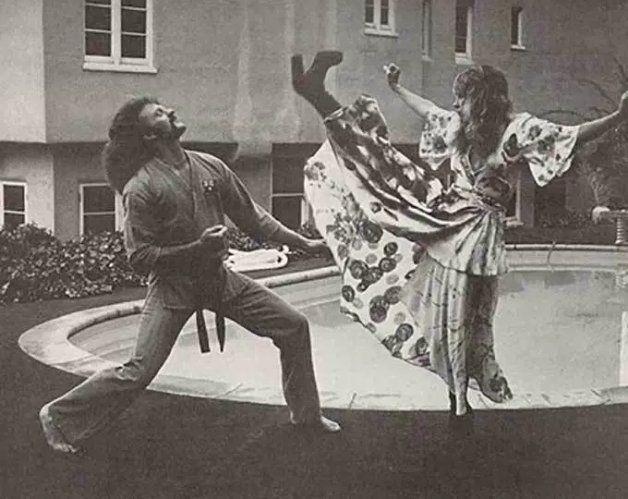 Stevie Nicks karate kick (83)