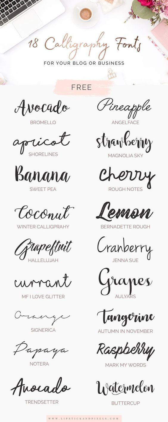 18 free calligraphy fonts for your blog or busines…