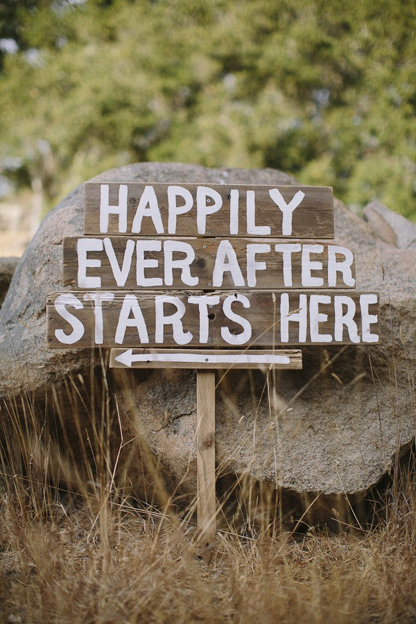 Happily Ever After Starts Here sign! @Style Me Pretty Photography By / http://daniellecapitophotography.com