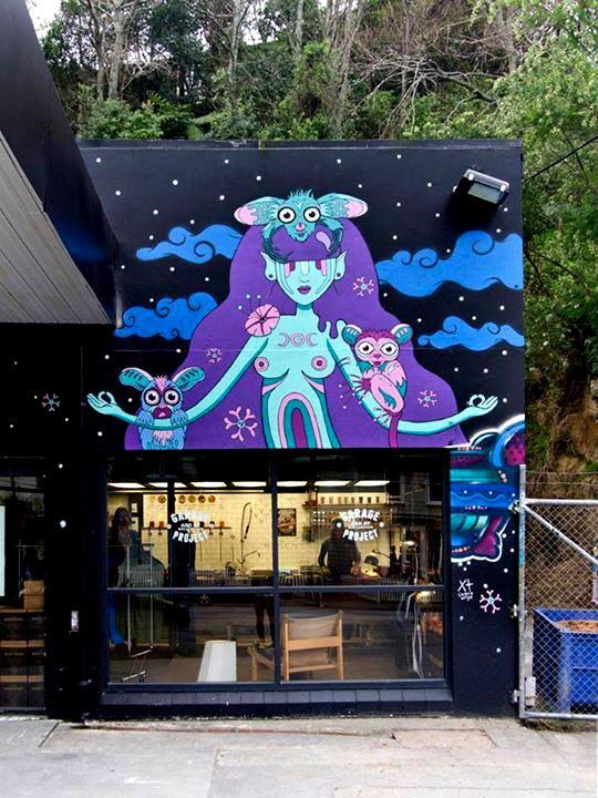 Moon Goddess. 2014 Garage project in Aro Valley. Artist: Christie Wright