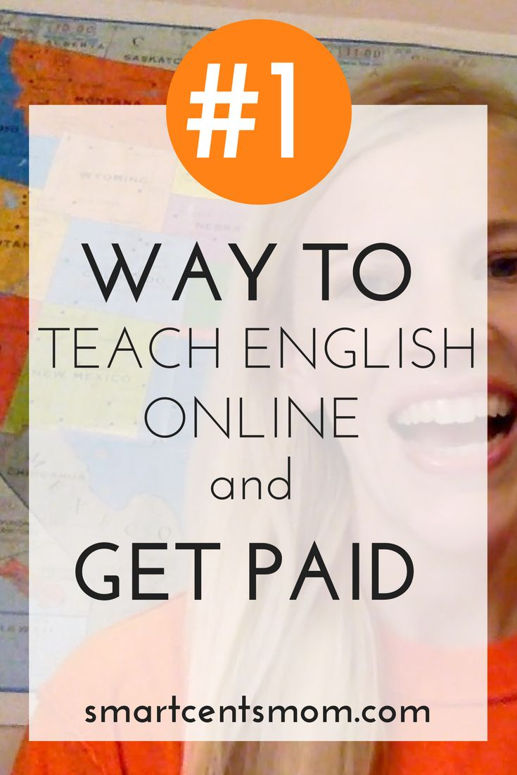 teaching english online | ways to teach online | get paid to teach English via @https://www.pinterest.com/smartcents/