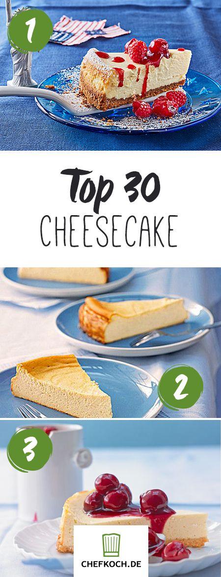 Die leckersten Cheesecake - Käsekuchen Rezepte: NY-Cheesecake, Heidelbeer Cheesecake und vieles mehr!