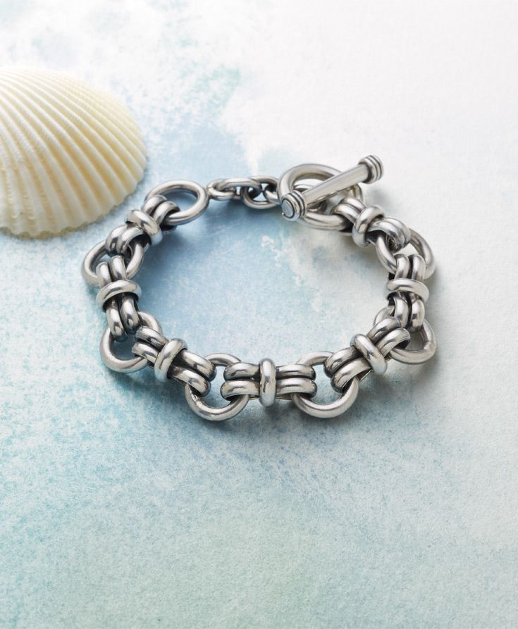 Super Link Bracelet - Bold and beautiful, our weighty sterling silver bracelet is a stylish statement piece for both women and men.