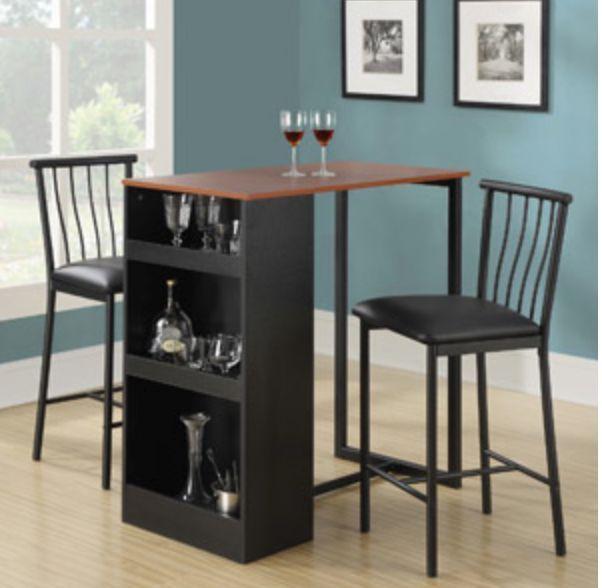 Dining Bistro Cafe Breakfast Nook Set Storage Furniture Kitchen Dorm ...