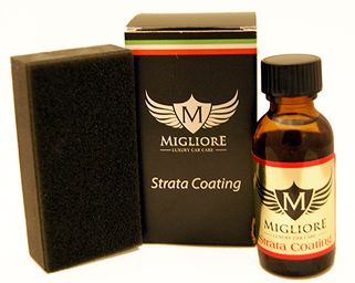 Migliore's incredible 12 month ceramic coating, Strata Coating. Strata Coating is a car detailing product your need in your arsenal!
