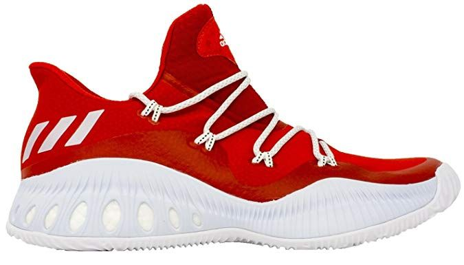 8980a3b6f adidas Crazy Explosive Low Shoe Men s Basketball 7 Scarlet-White-Mid Grey
