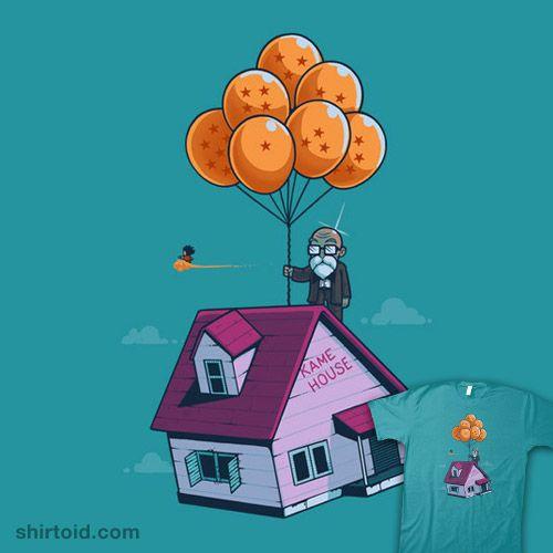 Adventure Is Up There #anime #balloons #dragonball #film #kamehouse #masterroshi #movie #nachodiazarjona #naolito #up