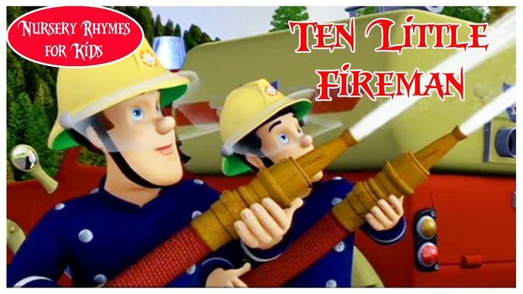 Ten Little Fireman | Nursery Rhyme With Lyrics | English Songs For Children