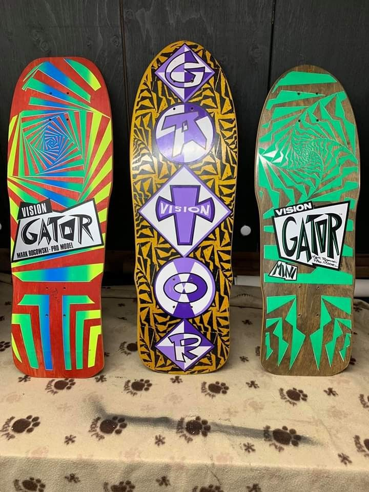 Og And Rare On Another Level Vision Gator Decks In 2020 Skateboard Photos Vintage Skateboards Old School Skateboards