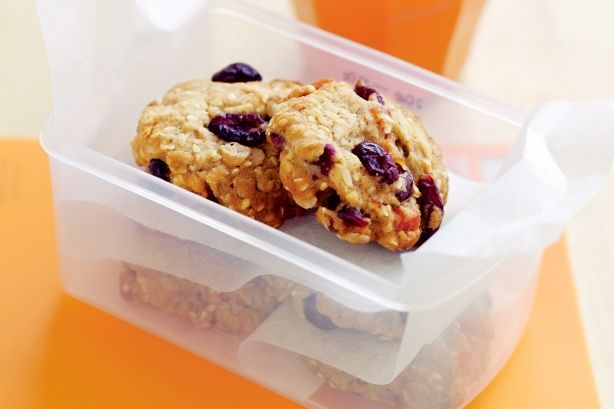 Dried apricots and cranberries add wholesome sweetness to these delicious biscuit treats.