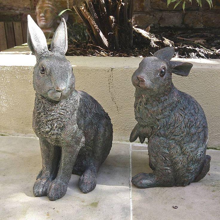 Bronze Effect Garden Spring Hare