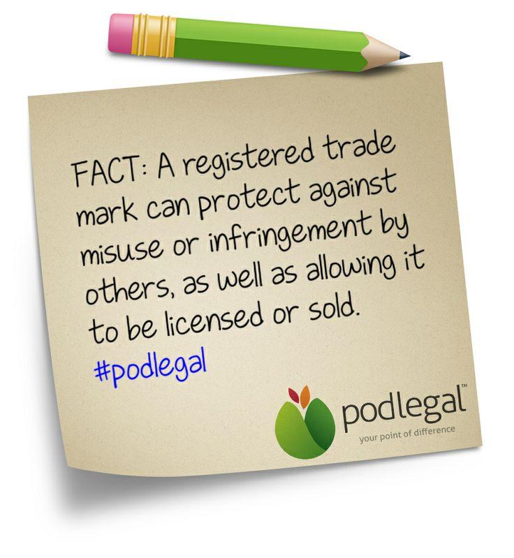 The benefits of a registered trade mark #IP #trademarks #brands #branding #marketing #podlegal