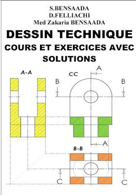 DESSIN TECHNIQUE Cours et Exercices Avec Solutions ~ Cours D'Electromécanique