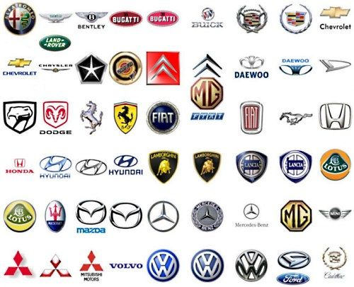 Эмблемы автомобилей мира - названия и фото