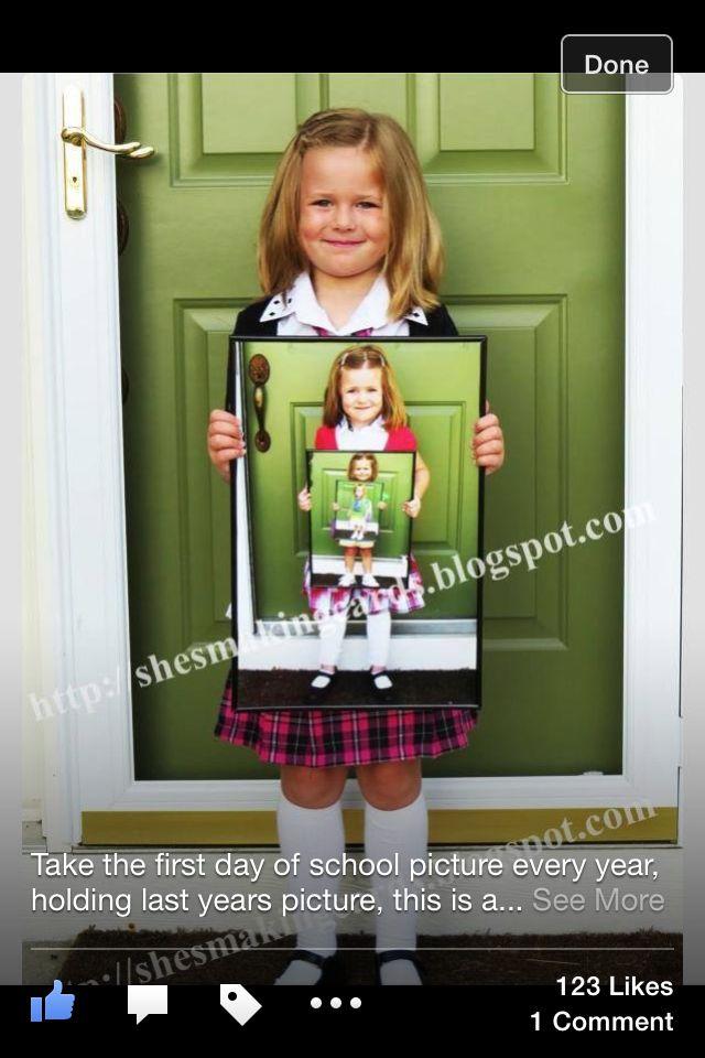 Tolle Erinnerung an den ersten Schultag – und viele weitere. #Einschulung #Familienalbum #Fotoideen